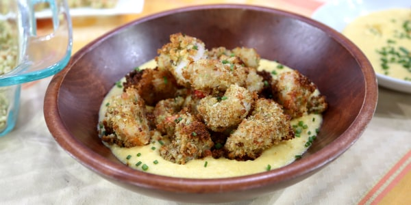 Oven-Baked Crispy Herbed Shrimp