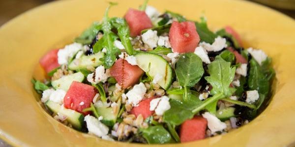 Watermelon, Farro & Arugula Salad