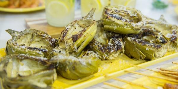 Grilled Parmesan Artichokes