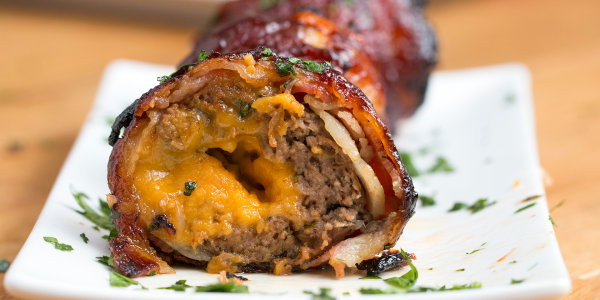 BBQ Bacon Onion Meatball Bombs