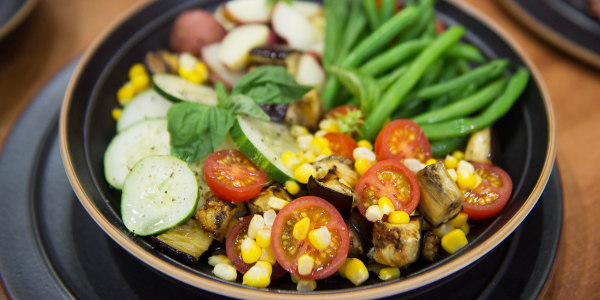 Summer Vegetable Salad with New Potatoes