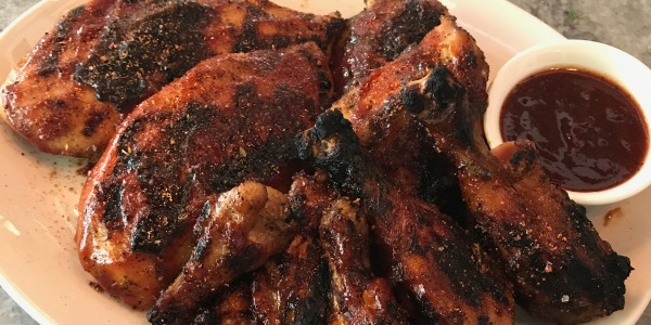 Grilled Chicken with Pig Beach Barbecue Sauce