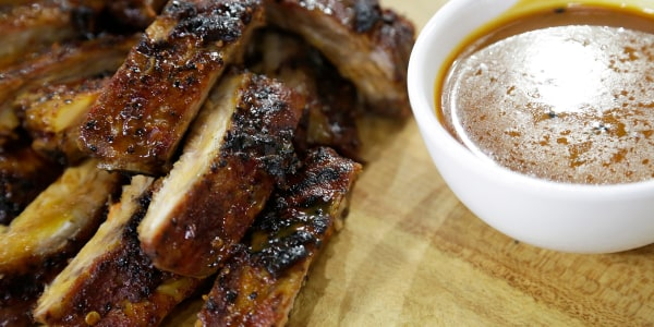 Orange-Glazed Pork Ribs with Sesame Coleslaw
