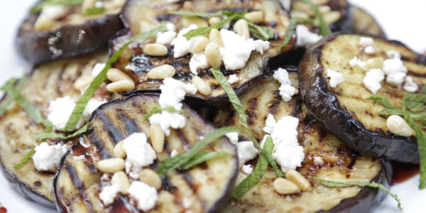 Grilled Eggplant with Pomegranate Molasses