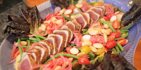 Spiced Yellowfin Tuna with Butter Bean Salad