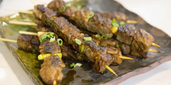 Grilled Flank Steak with Yakitori Sauce