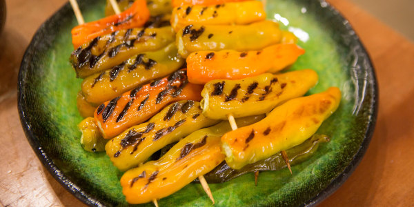Grilled Shishito Peppers with Ponzu Sauce