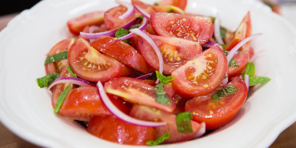 Lidia Bastianich's Tomato and Mint Salad