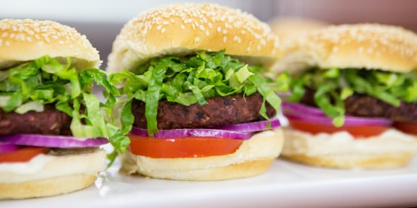 Black Bean Burger with Sweet Hoisin Glaze