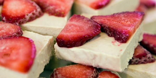 Frozen Strawberry-Coconut Bars
