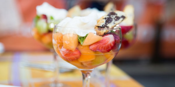 Summer Fruit with Wine and Mint