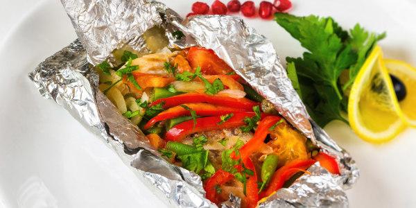 Italian Fish and Veggie Packets