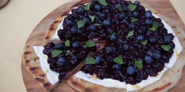 Blueberry-Basil Dessert Flatbread