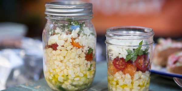 Corn and Tomato Mason Jar Salad