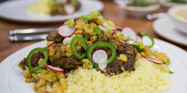 Short Ribs with Spiced Couscous and Raisin Salad