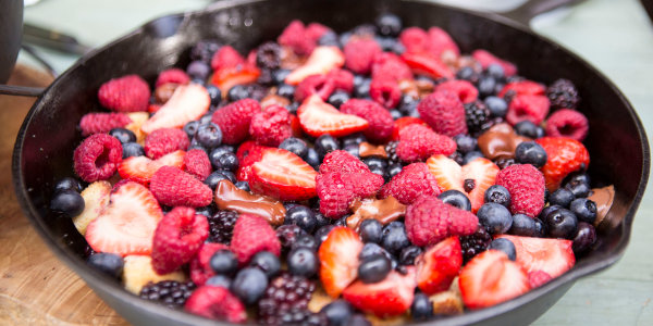 Pound Cake and Berry Campfire Skillet
