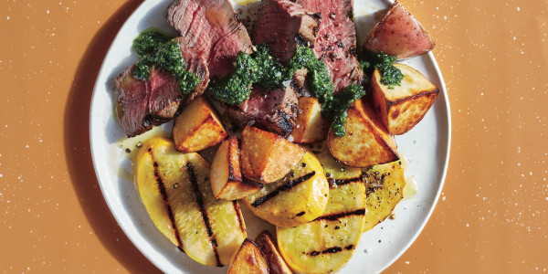 Steak and Veggies with Zesty Chimichurri