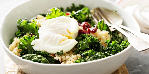 Kale Caesar Salad with Quinoa and Pecans