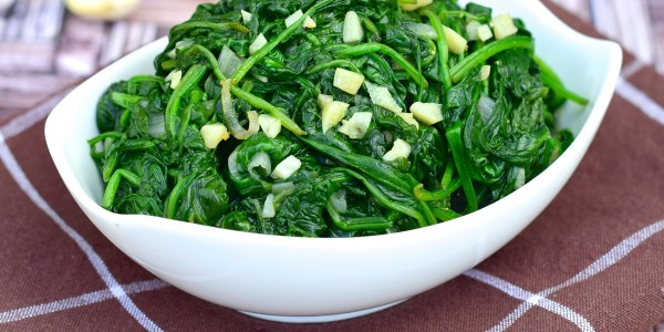 Baby Spinach with Chiles and Garlic