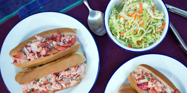 Lobster Rolls with Cumin-Lime Slaw