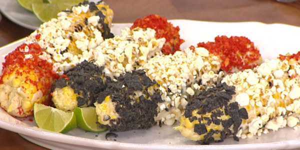Sunny's Red, White and Blue Grilled Corn