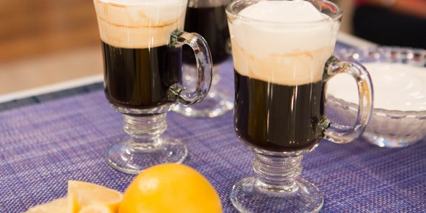 Valerie's Irish Coffee with Lemon-Vanilla Whipped Cream