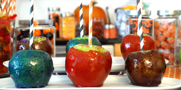 Glittery Candy Apples
