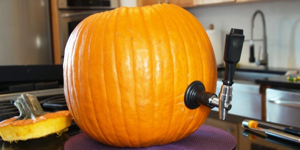 Pumpkin Keg with Witches' Brew Cocktail