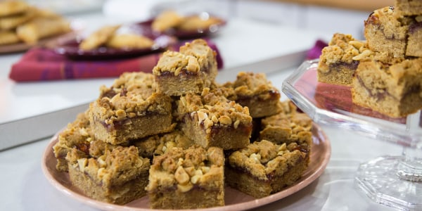 Peanut Butter and Jelly Breakfast Bars