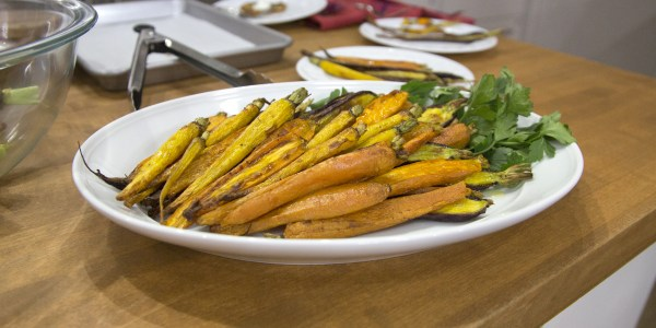 Roasted Tri-Color Carrots