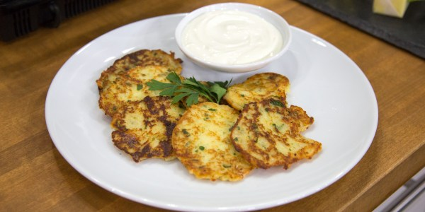 Parmesan Mashed Potato Pancakes