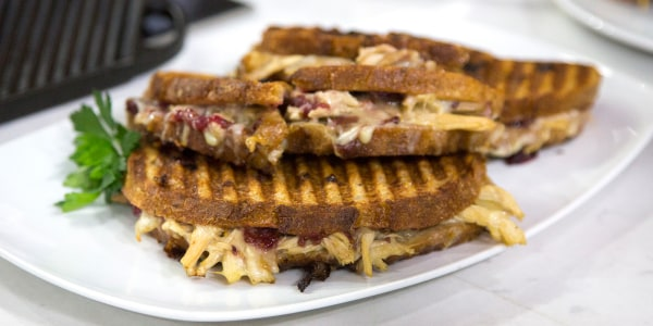 Turkey Panini with Cranberry Sauce