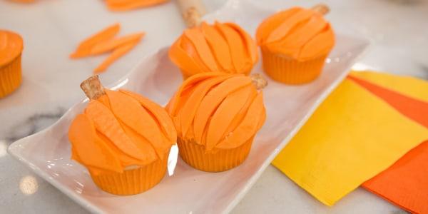 Circus Peanut Pumpkin Cupcakes