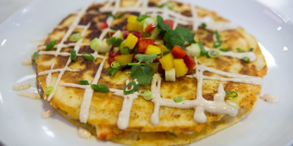 Lobster Quesadilla with Tropical Salsa