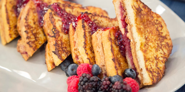 Peanut Butter and Jelly-Stuffed French Toast Recipe