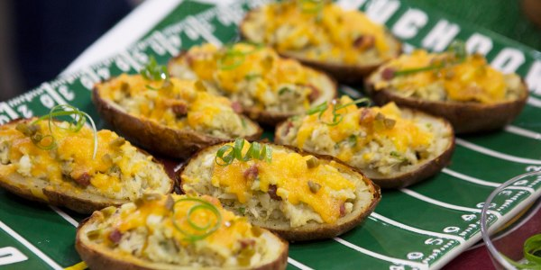 Old Bay Crab Loaded Potato Skins