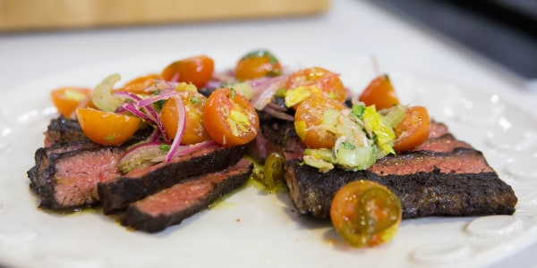 Bobby Flay's Grilled Skirt Steak with Tomato Salsa