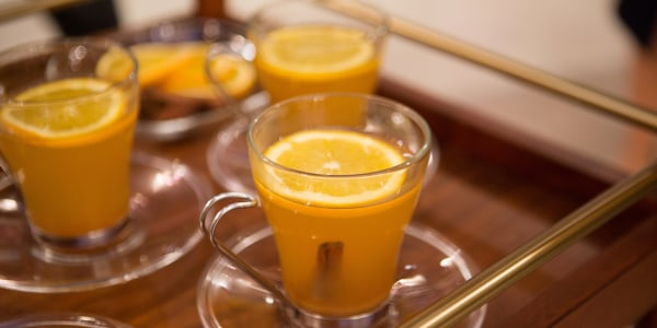 Hot Ginger Cider Toddy