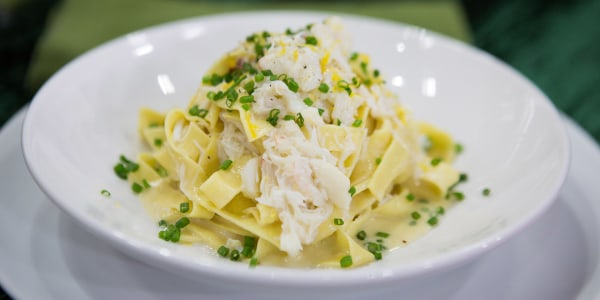 Fresh Fettuccine with Crab and Meyer Lemon