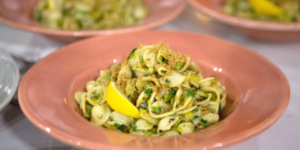 Pasta with Charred Brussels Sprouts
