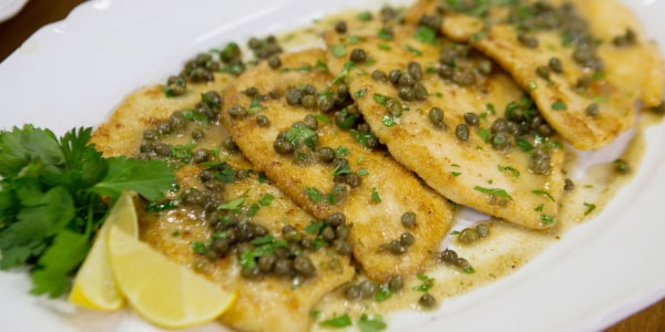 Parmesan-Crusted Chicken Piccata