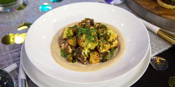Charred Cauliflower with Garlicky Tahini and Lemon