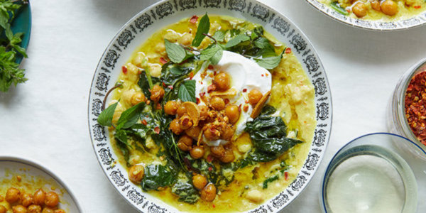 Spiced Chickpea Stew with Coconut and Turmeric