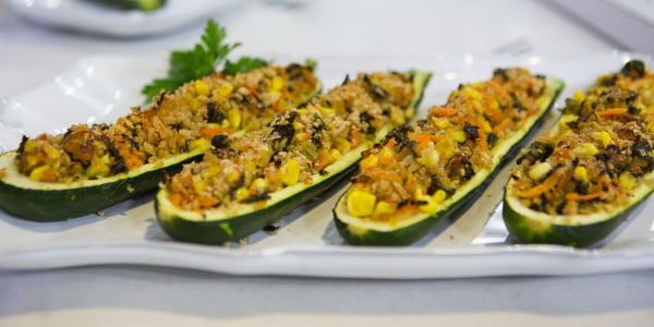 Veggie-Stuffed Zucchini Boats