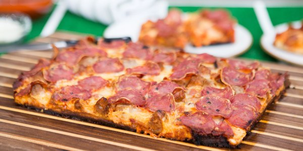 Detroit-Style 3-Meat Pizza
