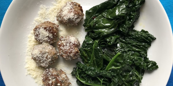 Lamb Meatballs with Kale