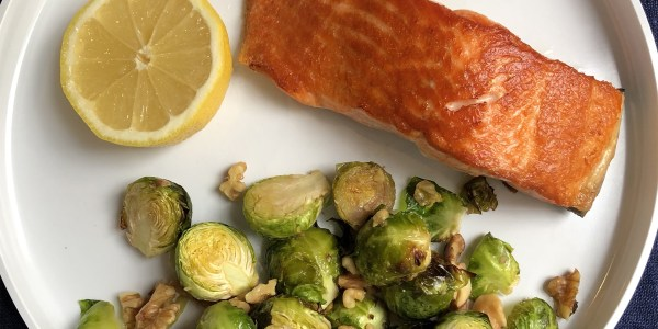 Pan-Seared Salmon and Roasted Brussels Sprouts