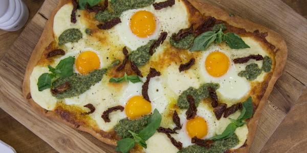 Sheet-Pan Breakfast Pizza