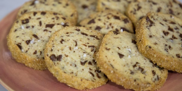 Salted Butter and Chocolate Chunk Shortbread Cookies