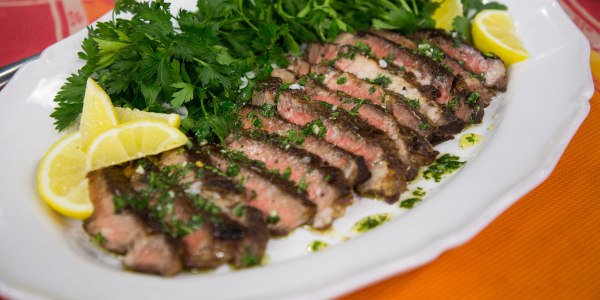 Cast-Iron Ribeye Steak with Za'atar Chimichurri